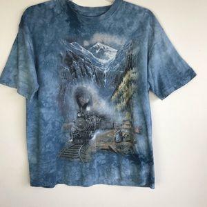 The Mountain | Tie Dye 90s Train Shirt